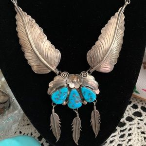 Authentic Vintage Native American Turquoise Neck